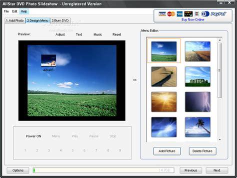 design photo slideshow allstar dvd photo slideshow download