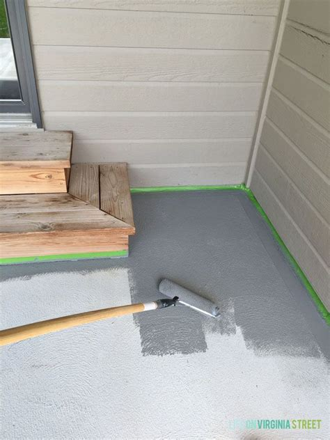 Painting Patio Concrete by Painted Concrete Patio Makeover Patio Makeover Paint