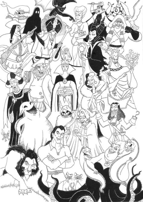 coloring pages disney villains disney villains coloring pages disney villains