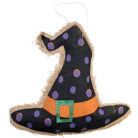 hat decoration 16 quot plush burlap witch hat decoration hh7311