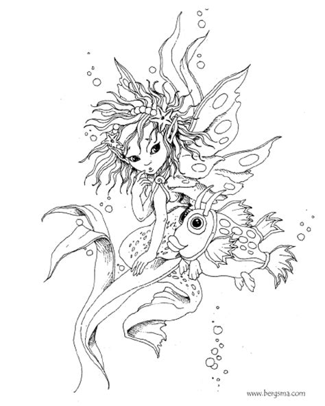 free fairy fantasy coloring pages by phee mcfaddell and more