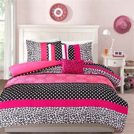 hot pink zebra bedding set themed bedroom ideas total fab hot pink zebra leopard print comforter and