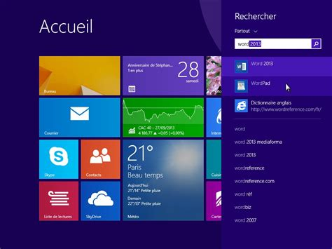 image bureau windows 8 windows 8 1 lancer une application de bureau m 233 diaforma