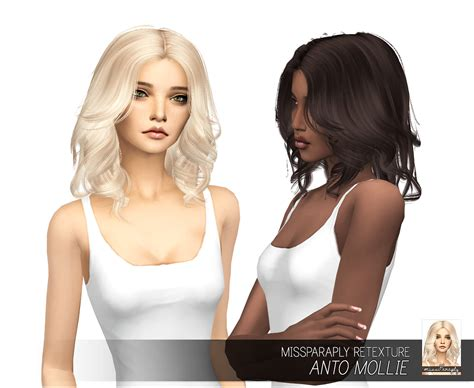 sims 4 cc hair my sims 4 blog anto mollie hair retexture by missparaply