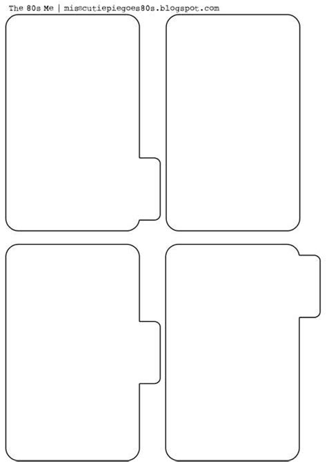 bgg card divider template free printable mini album pages this would be for a