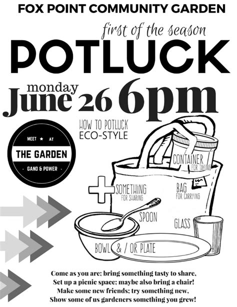 doodle poll potluck fox point community garden neighbors gardening together