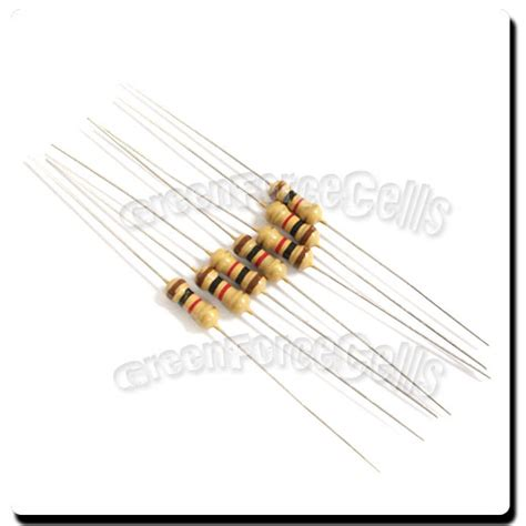 what is a 1k ohm resistor 10 pcs carbon resistors 1 4w 0 25w 0 25 watt 1000 ohm 1kohm 1k ohm 5 ebay