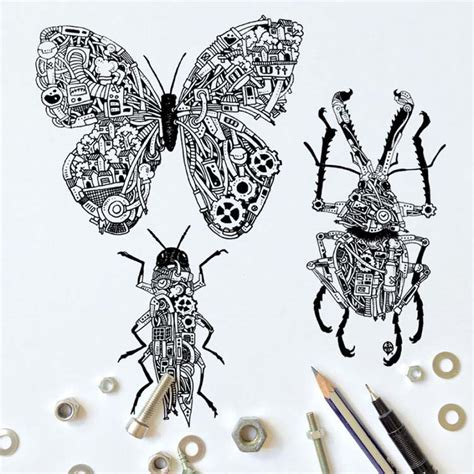 black pen doodles black pen doodles with steunk twist
