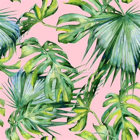 Pink Jungle Wallpaper | pink jungle wallpaper wall mural wallsauce usa
