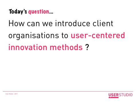 user studio pioneering service design in france design it s all about reassuring creating a framework for