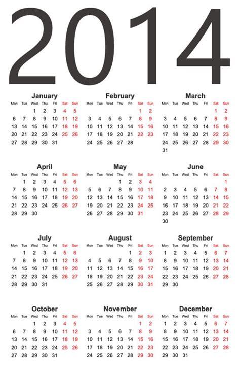 calendar design eps 2014 year vector calendar free vector graphics all