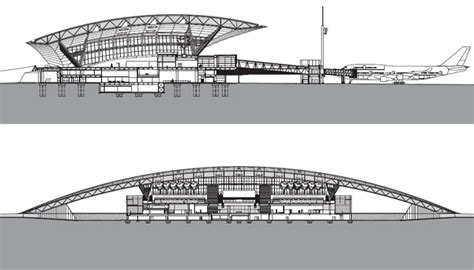 airport sections arqa carrasco international airport new terminal