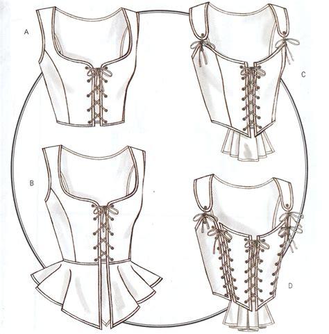 pattern corset dress historical costume corset pattern b4669 new 14 16 18 20