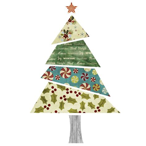 fabric patterned christmas tree wall sticker by spin