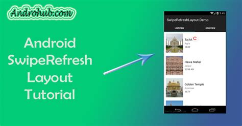 swipe refresh layout xamarin android android swiperefresh layout androhubandrohub