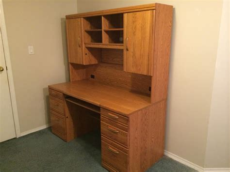 quot reduced price quot 300 oak computer desk with hutch