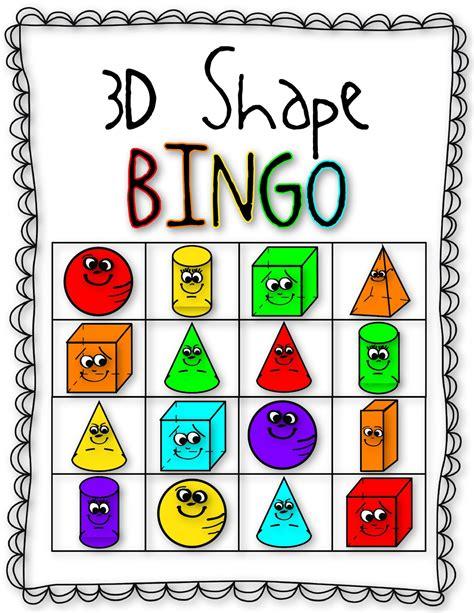 printable bingo cards with shapes simple shape bingo 3 coloring pages