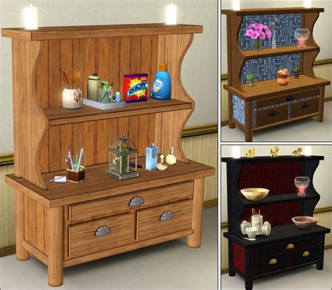 country kitchen dressers country kitchen dresser parsimonious the sims 3