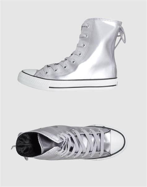 converse silver sneakers converse sneakers in silver lyst