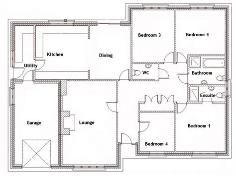 floor plans for a 4 bedroom house 4 bedroom house with pool 4 bedroom house floor plans simple 4 bedroom house plans mexzhouse