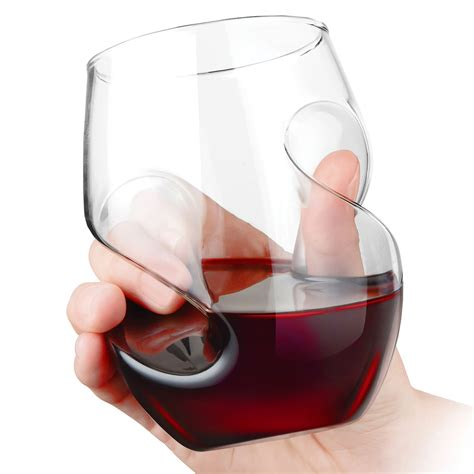stemless wine glasses aerating stemless wine glasses the green