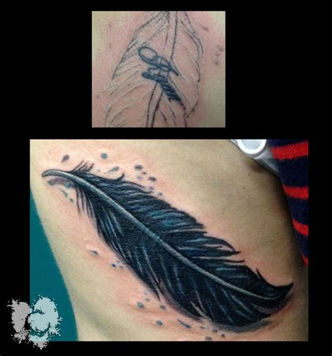 feather cover up tattoo ceejay getting rid of the ex feather coverup cover up