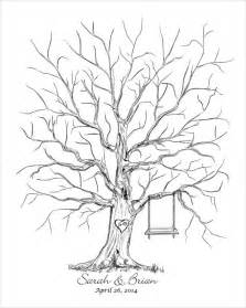 Wedding Tree Template by Wedding Thumb Tree Guest Book Quot Leaf Quot Your Thumbprint On A