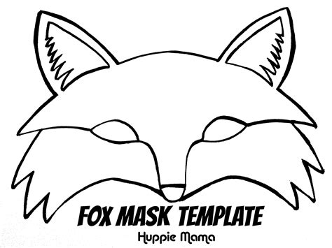 coloring page of a fox face fox template fox mask template foxy fox pinterest