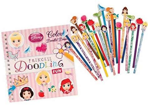 Pencil Set Princess disney princess pencil eraser doodling set