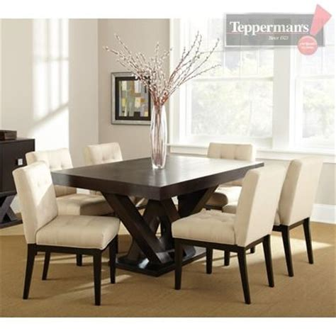 teppermans bedroom sets tiffany 7 pc dining kit w fabric chair tepperman s kitchens pinterest chairs