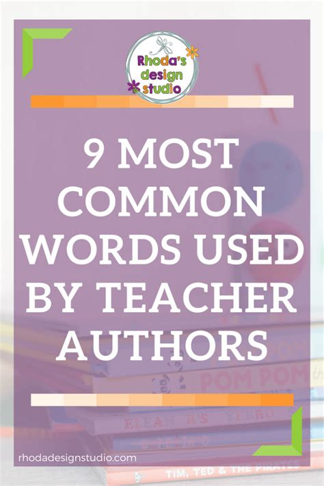 9 Words Use by 9 Most Common Words Used By Teachers On Tpt Rhoda Design