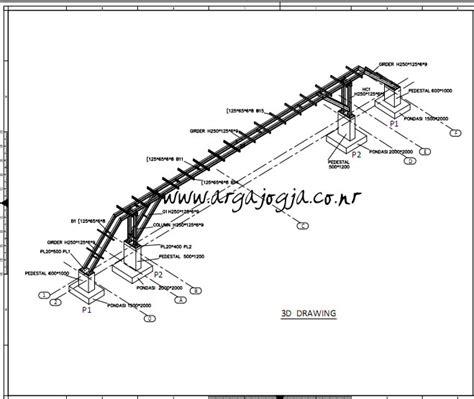 gambar format dwg autocad jembatan