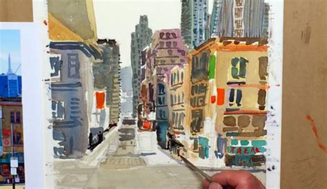watercolor tutorial city city landscape painting a 15 step tutorial filled with