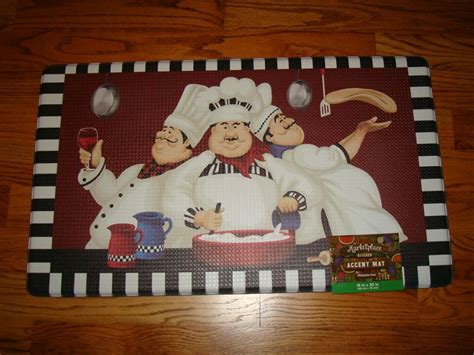 chef kitchen rug anti fatigue pvc foam kitchen floor mat rug chef trio pizza wine pasta italian martlocal
