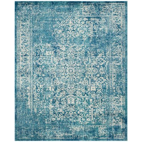 carleson ivory and blue rug safavieh evoke blue ivory 9 ft x 12 ft area rug evk256c
