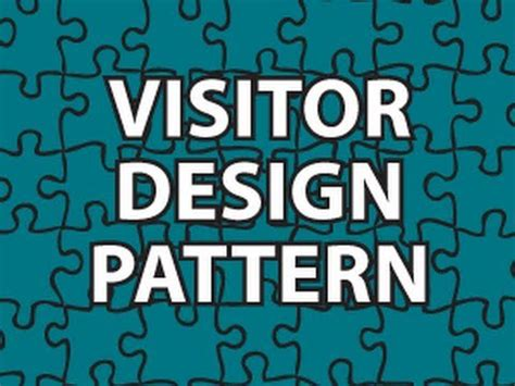 visitor pattern vs polymorphism visitor design pattern youtube