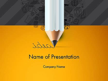 Ideas Come From Writing Presentation Template For Powerpoint And Keynote Ppt Star Writing Powerpoint Template