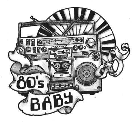 tattoo design 80 s baby by nippsynoo on deviantart