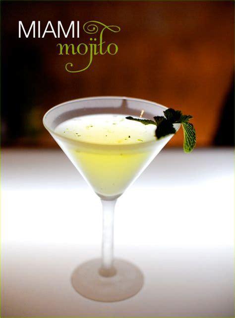 Happy Hour Mojito by Miami Mojito Martini 3 Oz Light Rum 2 Oz Lime Juice 1 2