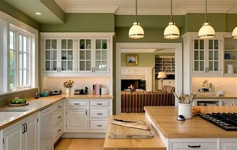 kitchens with white cabinets and green walls review of 10