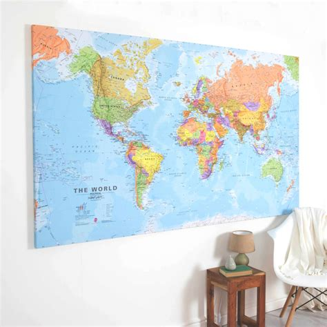 world map canvas canvas world map by maps international notonthehighstreet