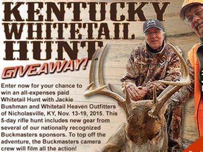 Buckmaster Sweepstakes - buckmasters com join buckmasters kentucky whitetail hunt giveaway