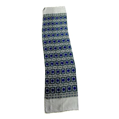 Printed Scarft Segiempat 17 50s printed scarf blue and green diamonds pattern blue17