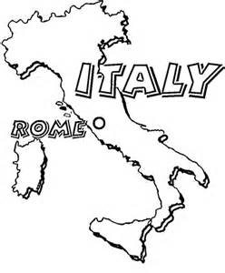 Free Printable Coloring Page Map Of Italy Countries Italy