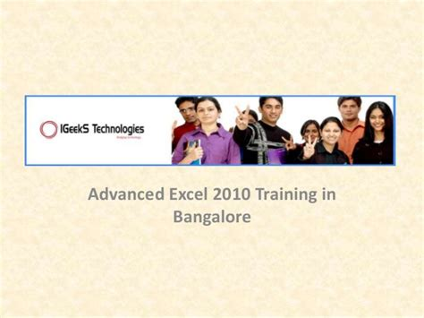 tutorial advanced excel 2010 advanced excel 2010 training in bangalore