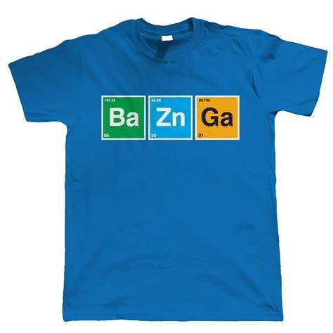 Bazinga T Shirt Mens Funny Sci Fi Geek Periodic Ebay