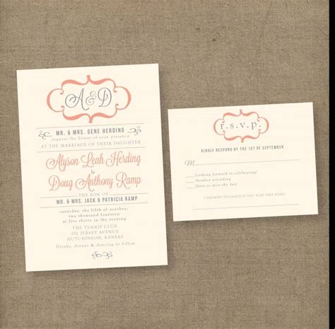Unique Modern Wedding Invitations by Modern Vintage Wedding Invitations Unique Wedding Invites