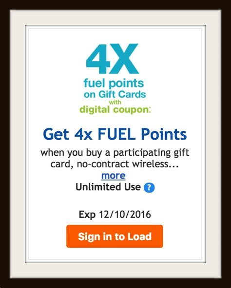 Kroger Gift Cards 4x Fuel Points - 4x kroger fuel points on gift cards must download coupon kroger krazy