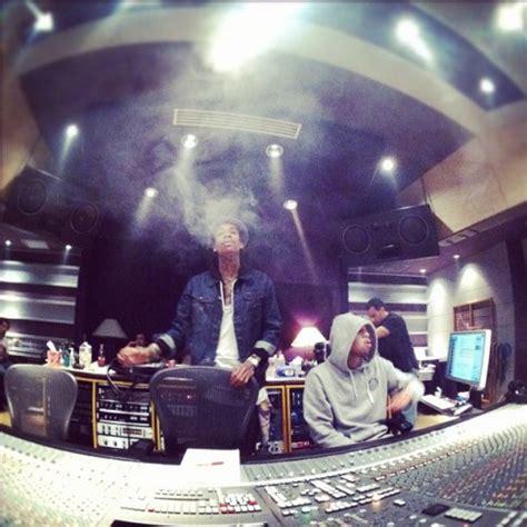 Khalifa Brown wiz khalifa hits the studio with adam levine and chris brown