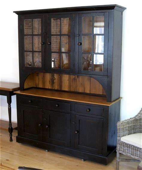 black china hutch barn wood farmhouse hutch in black finish